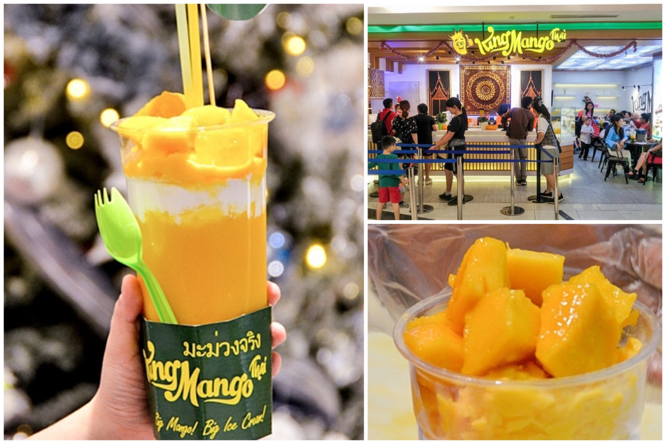 King Mango Thai Mango Puree Dessert at Neo SOHO Central Park Jakarta Indonesia.