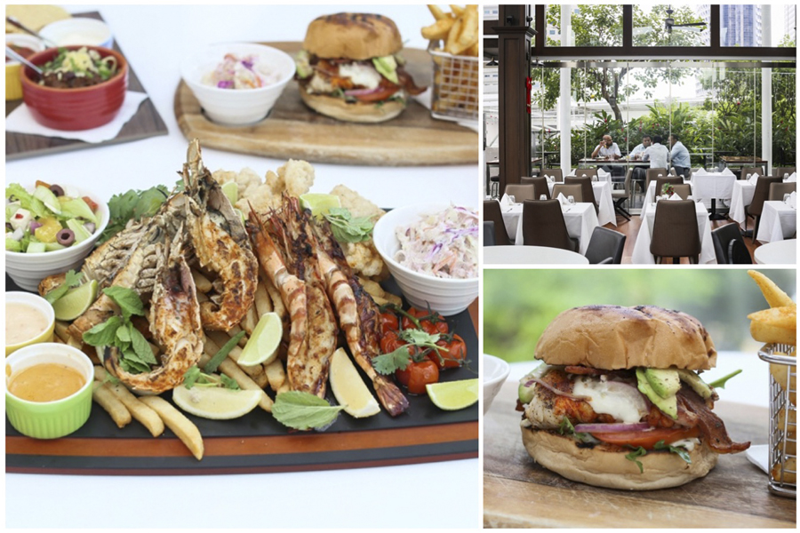 Dallas Restaurant and Bar – Mega Seafood Lobster Platter & Lobster Burger, Hidden Gem At Suntec City Sky Garden