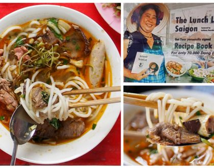 The Lunch Lady - Street Food Celebrity Made Famous By Anthony Bourdain, Daily Rotating Noodles Menu At Ho Chi Minh City