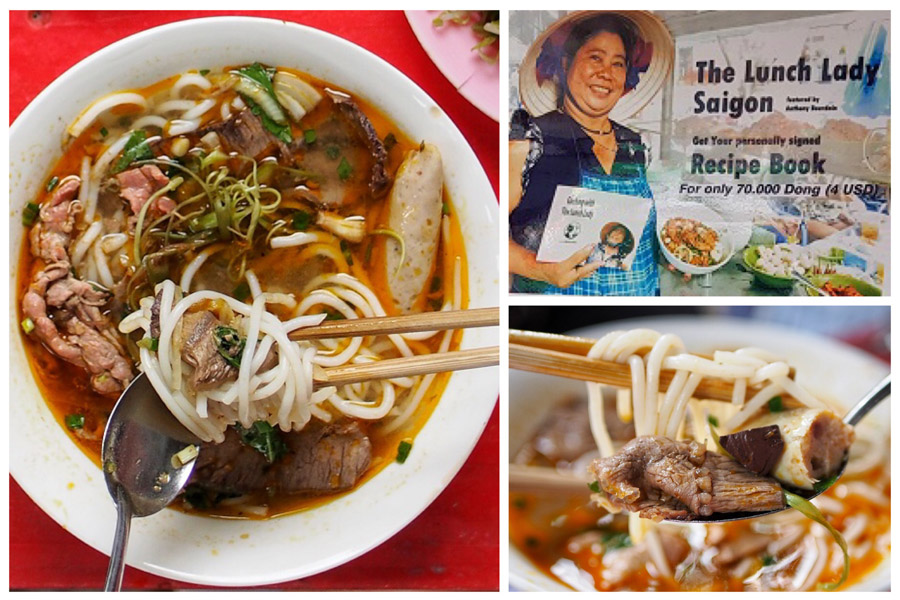 The Lunch Lady – Street Food Celebrity Made Famous By Anthony Bourdain, Daily Rotating Noodles Menu At Ho Chi Minh City