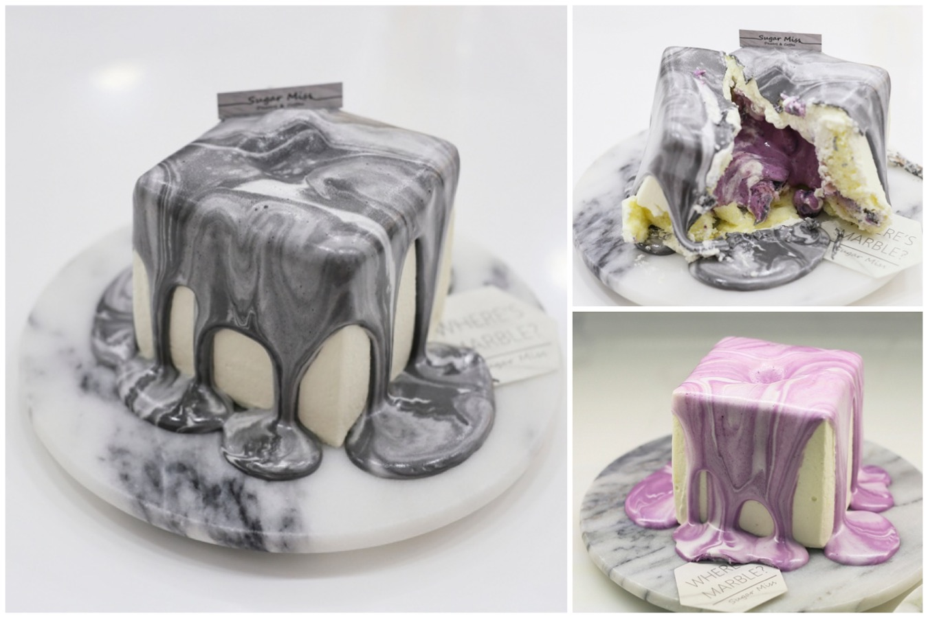 Sugar Miss – Popular Instagrammable Marble Cube Cake And Marble Cheese Cake At Taipei