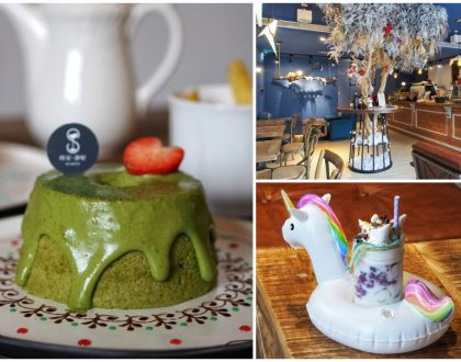 Coffee Smith Cake 時安靜好 – Popular Hand Drawn Plated Desserts, Matcha Chiffon Cake. At Taipei Zhongshan District