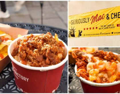 "The Mac Factory - Mac & Cheese Specialist At Kings Cross London. Go For The ""Posh Spice"""