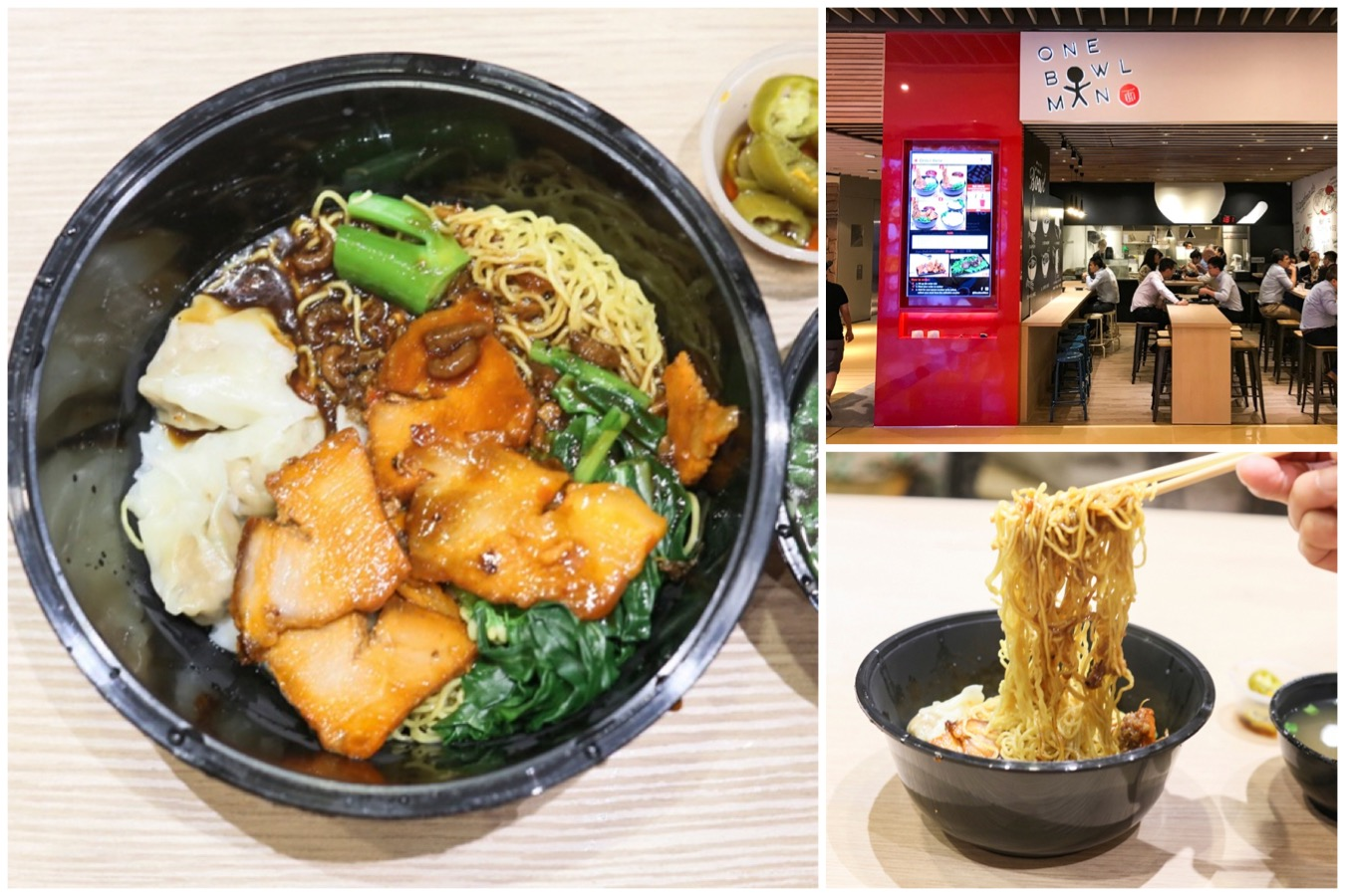 One Bowl Man – Modern Style Wanton Noodles With XO Sauce, At Marina Bay Link Mall