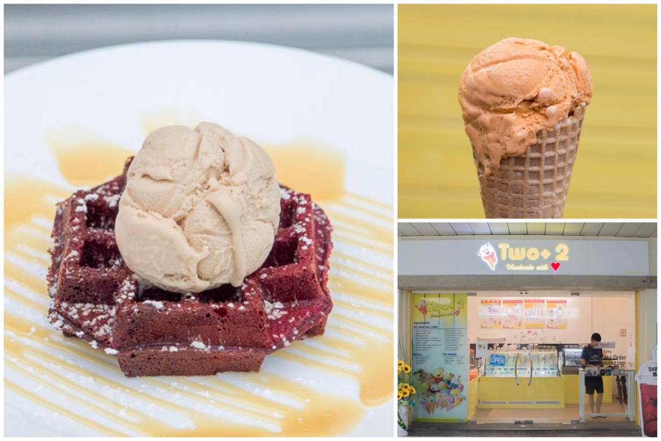 Two+2 – Ice-Cream & Waffles Café With Free Toppings, At Choa Chu Kang Sunshine Place