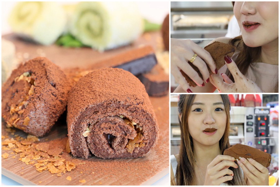 "Ah Mah Homemade Cake - NEW ""Dirty Swiss Roll"" And Design Your Own Blanket Castella Roll"