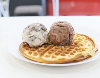Elyon Cafe - NEW Ice Cream Cafe At Bukit Merah, With Old-School Waffles And Creamy Black-White Sesame Ice Cream