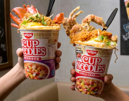 "Hana Restaurant - Overflowing Nissin Cup Noodles And ""Flying Noodles"", At Forum Galleria Orchard Road"