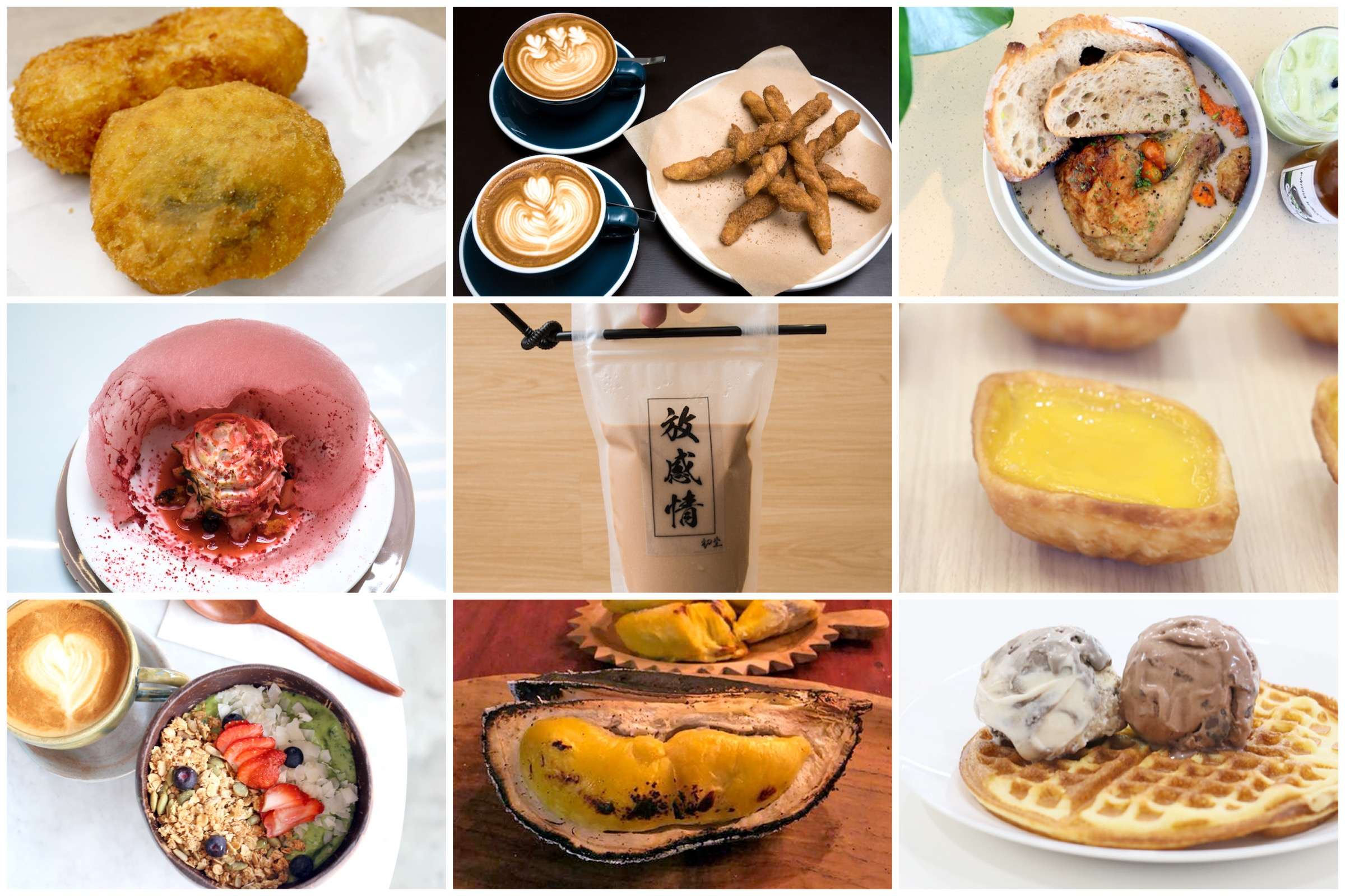 "10 NEW Cafés In Singapore May 2018 - Famous Korean Kwabaeggi ""Donuts"", Baked Durians, And Tong Heng Egg Tarts"