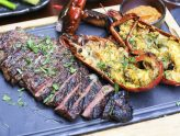 Opus Bar & Grill - Super Trio of Westholme Wagyu Sirloin, Boston Lobster, and FREE FLOW Wine