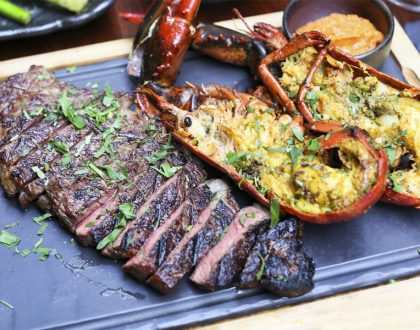 Opus Bar & Grill - Super Trio of Westholme Wagyu Sirloin, Boston Lobster, and FREE Bottle Of Wine