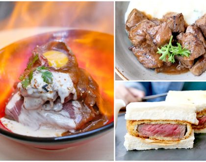 The Butcher's Kitchen – Flaming Wagyu Truffle Beef Bowl And NY Wagyu Steak Sandwich, At Suntec City