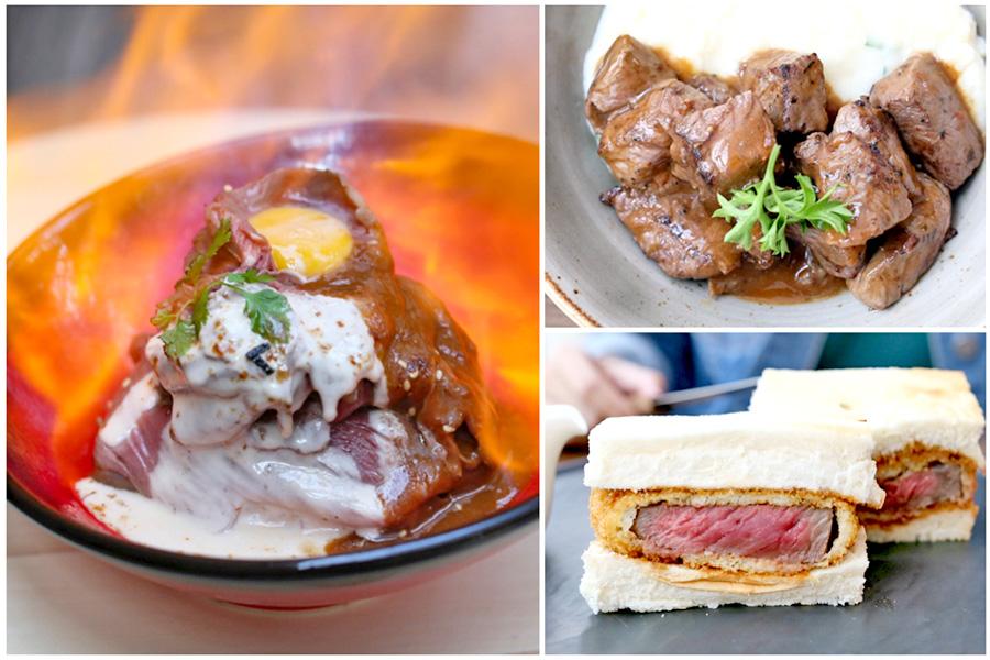 The Butcher's Kitchen – Flaming Wagyu Truffle Beef Bowl And NY Wagyu Steak Sandwich, At Suntec City