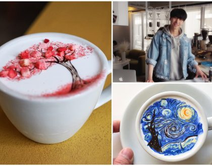 C.Through 씨스루 – Works Of Art On Coffee Created By Charming Korean Oppa Barista, At Itaewon Seoul