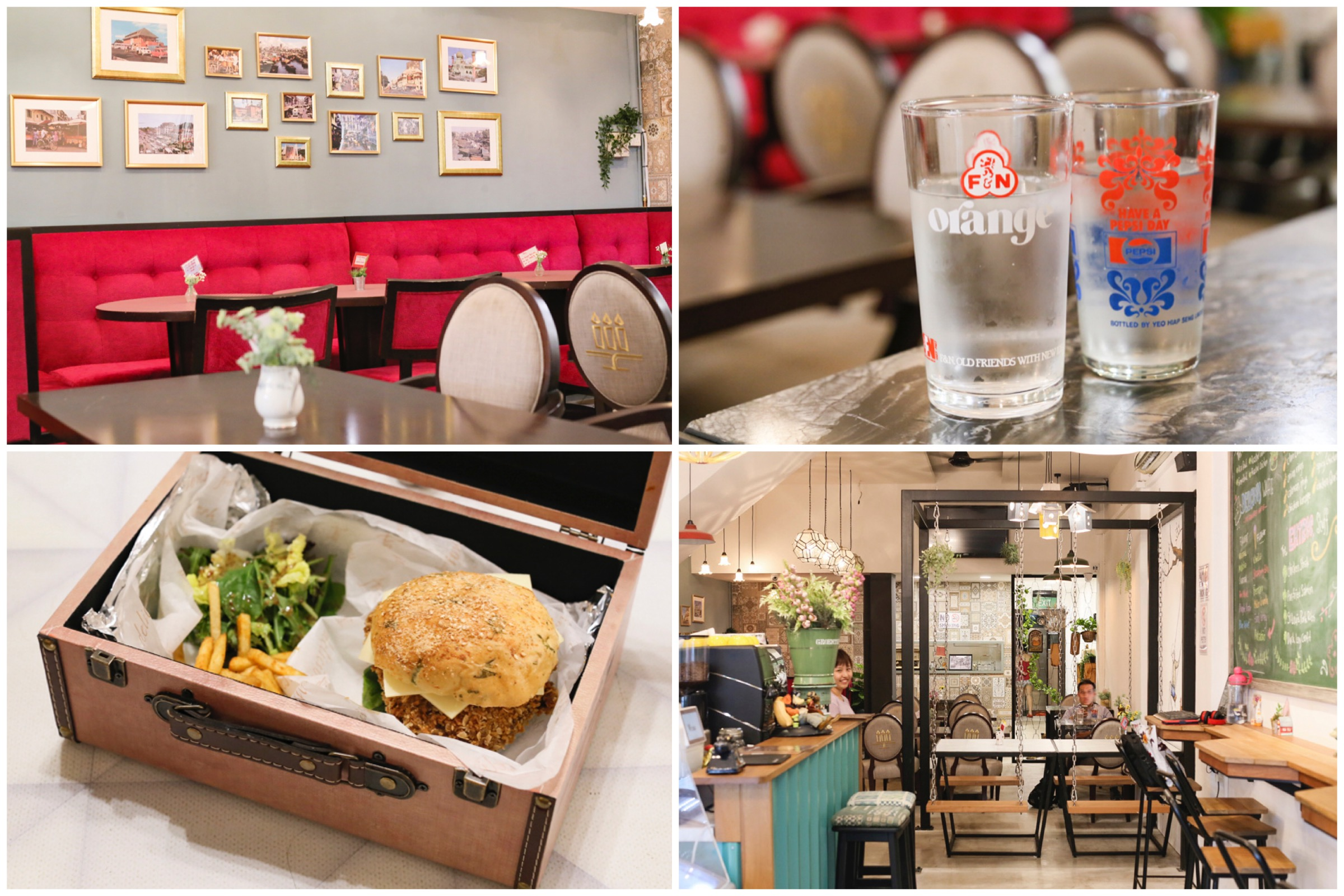 Good Old Days Bistro - Nostalgic Themed Cafe With Burgers Served In A Vintage Box, At Beach Road