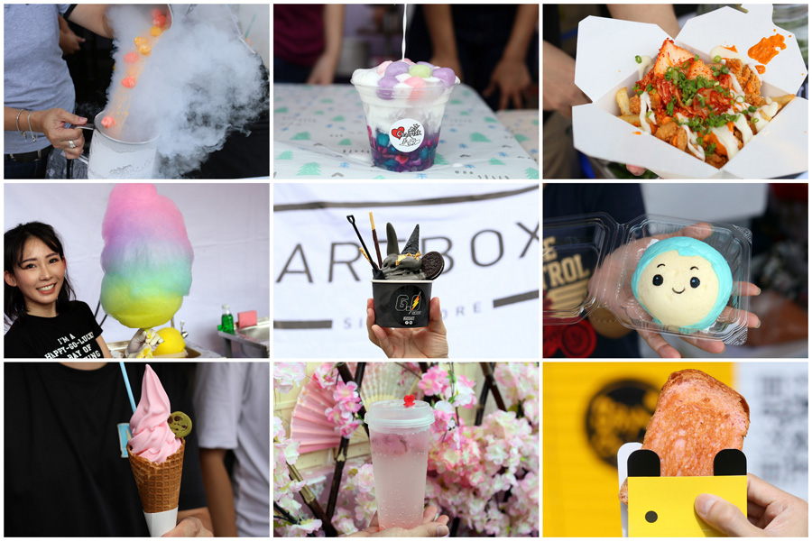 Artbox Singapore 2018 - The Ultimate FOOD Guide From 24K Gold Softserve, XL Rainbow Cotton Candy To Sakura Drink