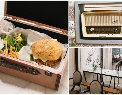 Good Old Days Bistro - Retro Themed Cafe With Burgers Served In A Vintage Box, At Beach Road