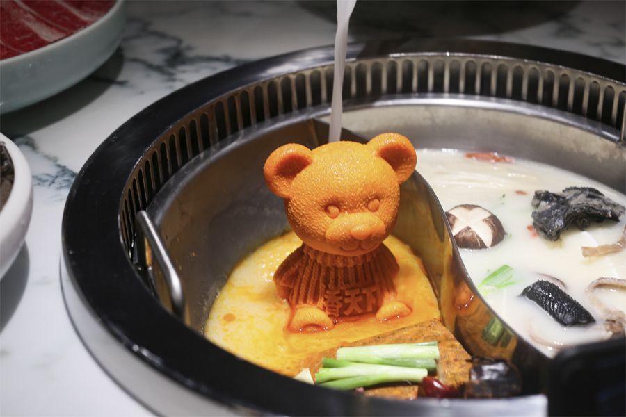 "Spice World 香天下火锅 - Teddy Bear Mala Hotpot With ""Barbie"" Wagyu Beef At Clarke Quay"