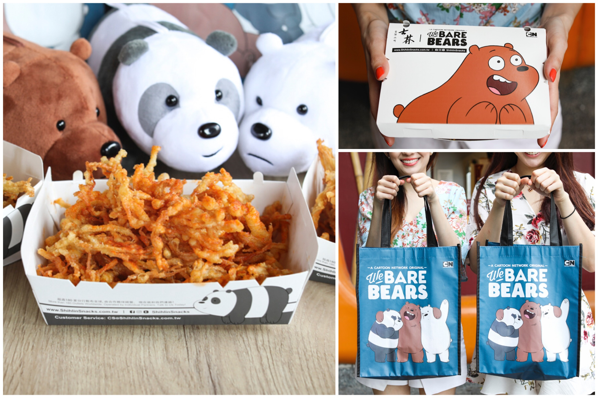 Shihlin Taiwan Street Snacks – Crispy BEARtastic Mushroom, And Get We Bare Bears Tote Bags FREE