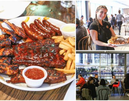Hurricane's Grill & Bar, Darling Harbour - Famous For Saucy Flame Grilled Ribs And Steaks