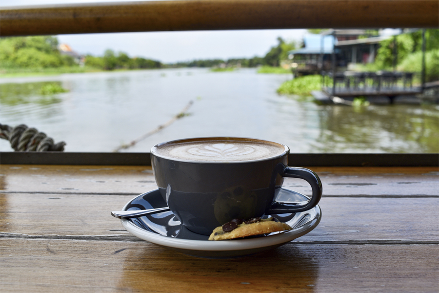 Riva Floating Café - Escaping Bangkok For The Day, At Café With Panoramic River View