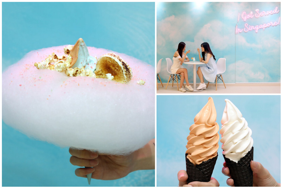 Aqua S Singapore – Dreamy Blue Soft Serve Shop At Orchard Xchange, With Flavours Of Lychee & Thai Tea
