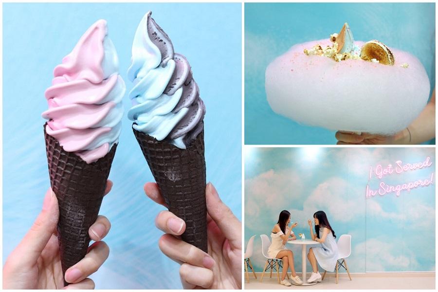 Aqua S Singapore – Dreamy Blue Soft Serve Shop At Orchard Xchange, Now With Ribena & Black Sesame Flavours