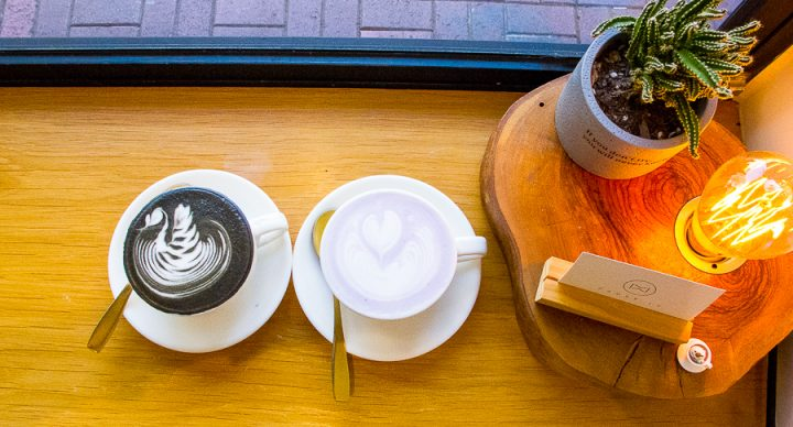 Pause It Café – Popular Brunch Cafe In Mongkok, Hong Kong. Known For Charcoal And Blue-Orange Lattes