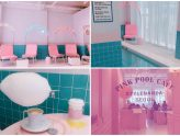 Stylenanda Pink Pool Cafe - Fabulously Pink Cafe In Seoul, Dine By The Indoor Pool With Cotton Candy Ice Cream