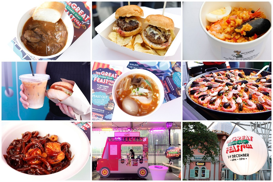 "The Great Clarke Quay FEASTival - 15 ""Food Trucks"" From Tsui Wah, Keisuke Lobster Ramen To The Ranch, 5-9 Dec"