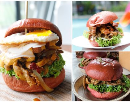 1st Mala Xiang Guo Burger In Singapore, And It's Red & Spicy. Available At GRUB Bishan 麻辣香锅汉堡!