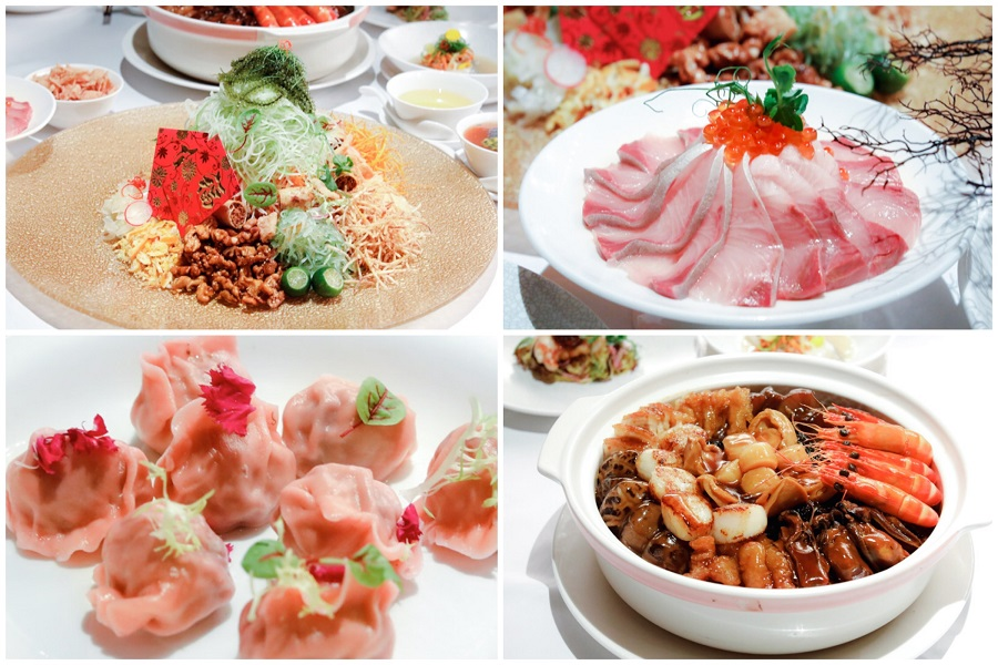 Crystal Jade Chinese New Year Offerings - From Hamachi Yusheng, Bountiful Abalone Pen Cai, To Pink Fortune Dumplings