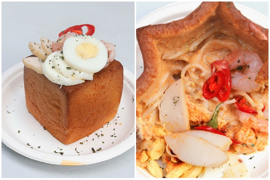 """1st Laksa """"Lava"""" Toast In Singapore, Flowing Out With Gravy, At Keong Saik Bakery"""