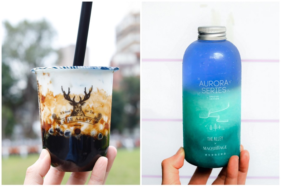 "The Alley 斜角巷 – Popular For Brown Sugar Bubble Milk And ""Aurora Drinks"" In Taiwan, Coming To Singapore Soon"