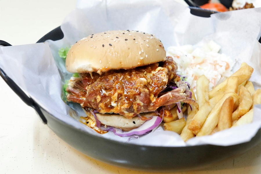 Wok In Burger - Zhi Char Dishes Incorporated Into Burgers, Created By Keng Eng Kee Seafood