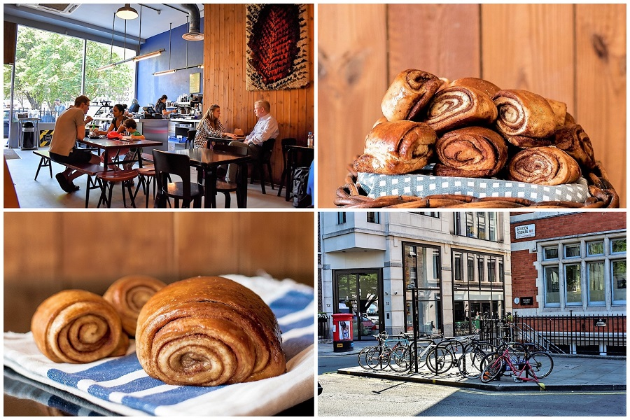 Nordic Bakery - Beautiful Scandinavian Café Famous For Cinnamon Buns, At Soho London