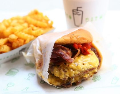 Shake Shack Singapore at Jewel Changi Airport - $14.30 For A Shack Stack, Singapore Exclusive Of Pandan Shake With Gula Melaka Crumble