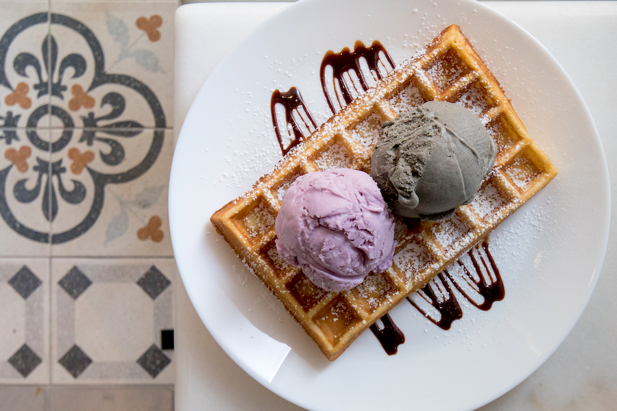 Wishes Cafe - Undiscovered Ice Cream Parlour With Sakura Tree And Mala Wings, Found At Macpherson