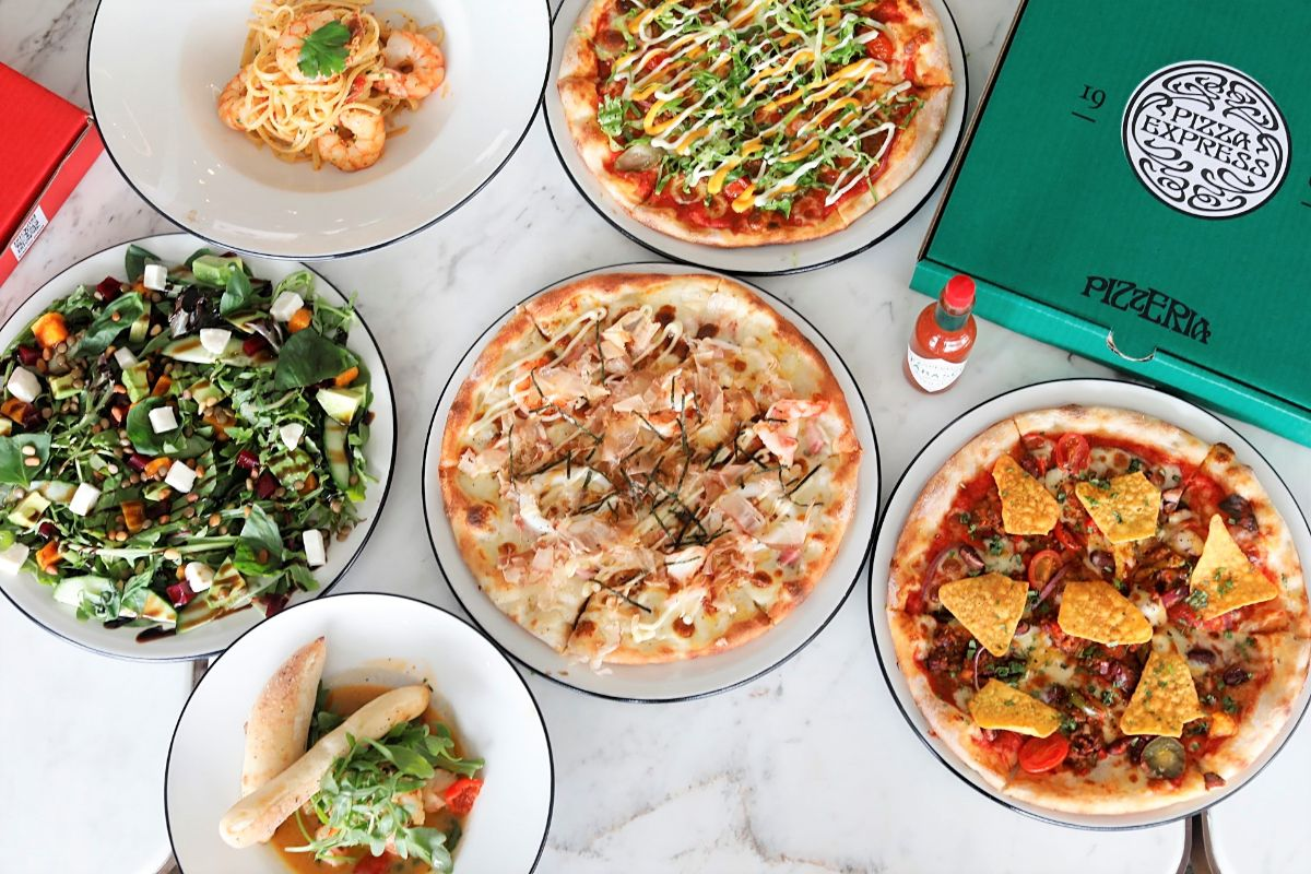 """PizzaExpress Singapore – FREE Pizza With $60 Spent On Delivery. Go """"Around The World"""" With NEW Hamburger Pizza, Okonomiyaki Pizza"""